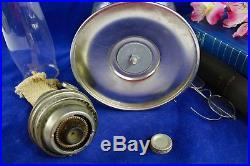 Aladdin Model C Brazil/ Brazilian Diamond Quilt Glass Font Kerosene Mantle Lamp