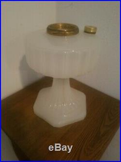 Aladdin Moonstone Corinthian Model B Kerosene Oil Lamp Base White