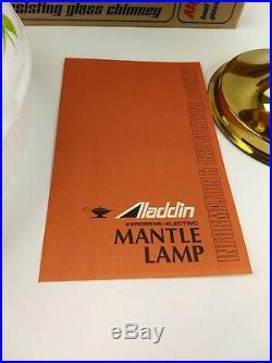 Aladdin NOS Unfired Kerosene Oil Lamp 1970's Brass Model C Original Box Mantle