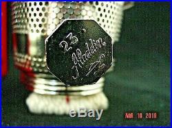 Aladdin Nickel Model 23 Heeless Kerosene/oil Lamp Burner Nos