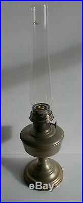 Aladdin Nickel Plated Model 12 Complete Lamp