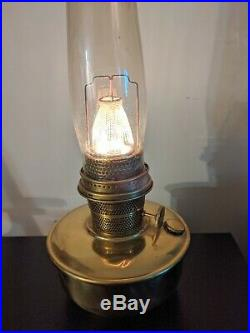 Aladdin Nu Type Model B Brass Bracket Lamp And Accessories, Works well 1933 55