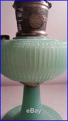 Aladdin Nu-Type Model B Green Moonstone Vertique Jadeite Kerosene Lamp