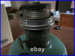 Aladdin Nu-Type Oil Lamp Model B Moonstone Jade Green No Chimney