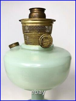 Aladdin Nu-Type Oil Lamp Model B Nashville Moonstone Jade Green No Chimney