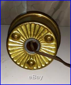 Aladdin Oil Kerosene Lamp RED Venetian Art-Craft Vase #1247 Circa 1931-32