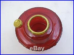 Aladdin Oil Kerosene Model 23 Lincoln Drape Shelf Lamp- Ruby Red Glass (76d8)