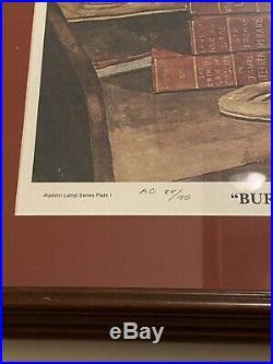 Aladdin Oil Kerosene Model 4 Student Lamp Roland Talbott Framed Print 79 20x24