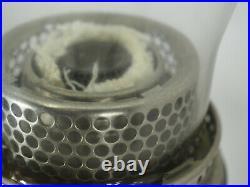 Aladdin Oil Lamp #12 unusual finish burner lox-on glass Chimney Australian model
