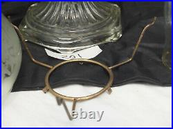 Aladdin Oil Lamp 1935 Clear Crystal Corinthian 23 Burner frosted etched shade B