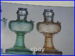 Aladdin Oil Lamp 1939 Amber crystal Rnd base short Washington Drape Model B-41