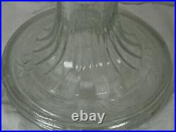 Aladdin Oil Lamp 1939 clear crystal Rnd base short Washington Drape Model B-39