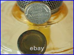 Aladdin Oil Lamp 1940 Amber Crystal filigree stem Washington Drape Model B-52