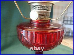 Aladdin Oil Lamp 1940s Tall Lincoln Drape Model B Ruby Red, NO RESERVE