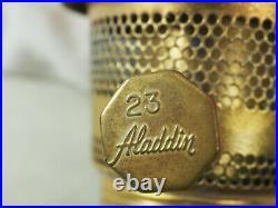 Aladdin Oil Lamp 1995 PINK New Short Lincoln Drape Model 23 Burner model 23 1977