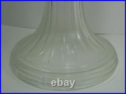 Aladdin Oil Lamp 1997 light blue font clear stem Short Lincoln Drape Burner 23