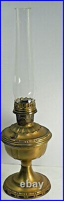 Aladdin Oil Lamp #7 Brass finish Kerosene Model B Burner Lox-on chimney