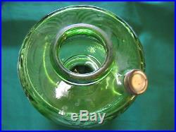 Aladdin Oil Lamp Green Washington Drape, B-54, Diamond Quilted Shade. B Nu-type