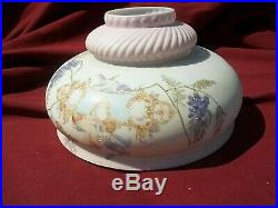 Aladdin Oil Lamp Kerosene Hand Painted 10 Inch Shade Swirl Top Cherubs
