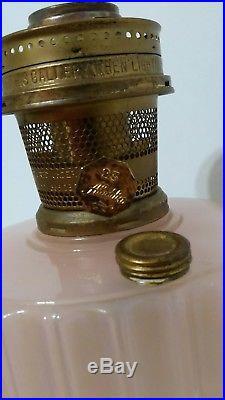 Aladdin Oil Lamp Pink Moonstone Corinthian Model 23 Burner