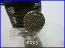 Aladdin Oil Lamp Washington Drape 1939 clear crystal Round base Good Cond