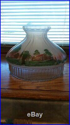 Aladdin Original Cabin Scene Model 12 601s Kerosene Oil Lamp Shade