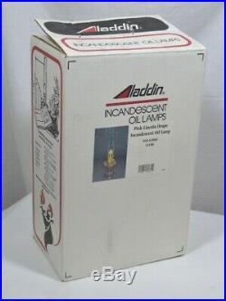Aladdin Pink Lincoln Drape Lamp, Model 23 Brass Burner, R150 Mantel, C6188
