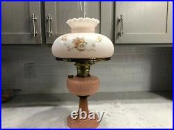 Aladdin Pink Vertique Kerosene Lamp, beautiful example