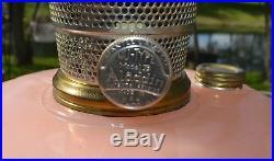 Aladdin Queen B-98 Rose Moonstone Vertique Kerosene Oil Lamp 1937 39