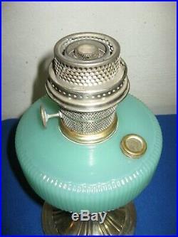 Aladdin Queen Lamp B97 Green Moonstone With B Burner 1937-1939