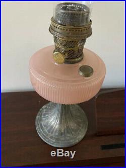 Aladdin Queen Rose Moonstone Lamp 1938 With Model B Burner