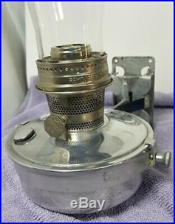 Aladdin Railroad Caboose Model 23 Kerosene Oil Lamp Wall Bracket Set With Glass