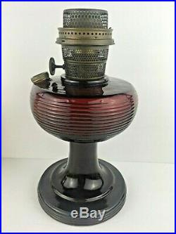 Aladdin Red Beehive Oil Lamp with Burner Excellent