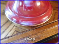 Aladdin Red Venetian Art-Craft 10 #1247 Vase Kerosene Lamp