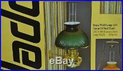 Aladdin Regency Brass Wall Lamp with Green Shade, Model BW23-301 (Kerosene Only)
