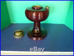 Aladdin Ruby Red B-83 Beehive Glass Lamp Font only kerosene oil Lamp Exc