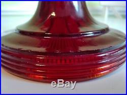 Aladdin Ruby Red Beehive B-83 Glass Lamp Font only kerosene oil quick ship