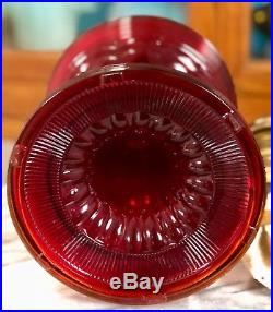 Aladdin Ruby Red Beehive Oil Lamp Nu Type Model B Burner
