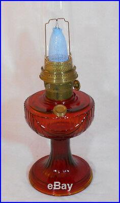 Aladdin Ruby Red Short Drape Lamp & Extra Parts