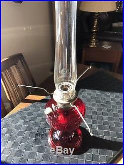 Aladdin Ruby Red Short Lincoln Drape Lamp Base