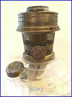 Aladdin Short Lincoln Drape Oil Lamp Clear Glass, 2003, With 23 Burner