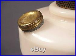 Aladdin Simplicity Kerosene Lamp White Alacite B-76 Nu-type Burner Mantle Lamp