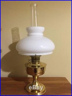 Aladdin Solid Brass Kerosene Oil Table Lamp