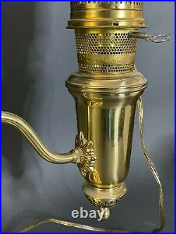Aladdin Student Lamp Kerosene Oil with Optional Electric Kit Glass Shade 32 T