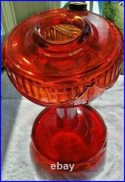 Aladdin Tall Lincoln Drape Faded Ruby Crystal B-77 Lamp (1940-49)