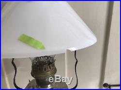 Aladdin Tilt Frame Hanging Oil Lamp Font Burner Smoke Bell Flame Spreader Wick