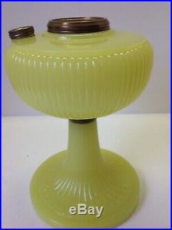 Aladdin Vertique B-88 Yellow Moonstone mantle oil lamp