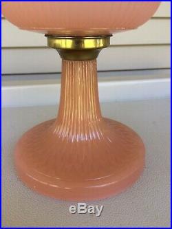 Aladdin Vertique Moonstone Rose Lamp Original 1938, Beautiful Vintage Lamp