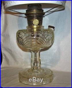 Aladdin Washington Drape Oil / Kerosene Lamp / White Ornate Shade/Chimney/Spider