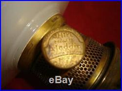 Aladdin White Moonstone Corinthian Lamp B-110 Circa 1935-1936 FREE SHIPPING